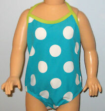 New OLD NAVY Size 12-18 Months Aqua Polka Dot One-Piece UPF 50 Swimsuit
