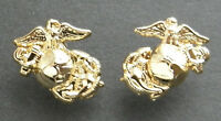 US MARINE CORPS ENLISTED MINI LAPEL PIN SET OF 2 LEFT AND RIGHT 1/2 INCH