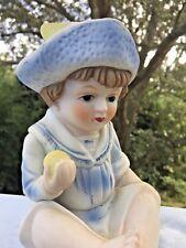 Vintage Porcelain Bisque Sailor Boy PIANO BABY 7/5 UNIQUE Figurine Doll ❤️j8