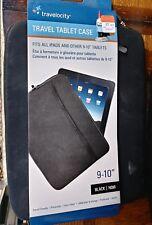 "Travelocity travel tablet case 9-10"" black"