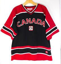 TEAM CANADA HOCKEY JERSEY V-Neck Logo Patch Red/Black TeePee Sports MEN'S MEDIUM