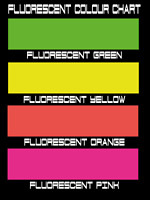 FLUORESCENT CUSTOM TEXT STICKER DECAL CHOOSE ANY COLOUR Shop Window Car Window