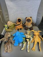 Star Wars Buddies Lot of 7 Ewok Jawa C3PO Crumb Hutt Rebo Chewbacca NWT PLUSH!