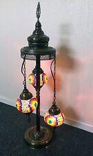 UK Great Style Turkish Moroccan Mosaic Tiffany Floor Lamp Light Multi Colour