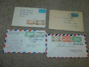 4 SYRIAN COVERS FROM THE 1940`S-3 TO USA, 1 1ST FLIGHT TO TURKEY
