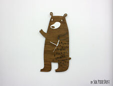 Cute Bear - Wooden Wall Clock