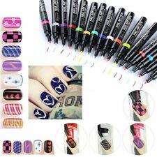16 Colors Nail Art Pen Polish Painting Drawing UV Gel DIY Design Manicure Tools