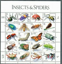 Us #3351 a-t Mnh, Insects & Spiders Sheet, Fv $6.60 (1999)