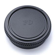 Rear Lens Cap + Front Body Cover Protector For Canon FD Camera Black