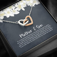 To My Mother Necklace, Mother's Day Gifts For Mom From Son, Love Heart Pendants