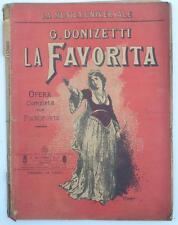 LA FAVORITA Gaetano Donizetti Spartito originale Ricordi fine 800 2 litografie