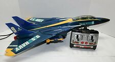 Vintage 1990 New Bright Remote Control F-14 Tomcat Fighter Jet Plane - Tested