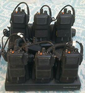 TWO WAY RADIO BULK LOT- VERTEX STANDARD VX 821 G7-5 - X 6 + CHARGING DOCK  $4200
