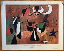 Vtg 1965 Joan Miró People in the Night Art Poster Medici Society England 27 x 23