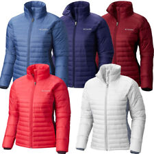 "New Womens Columbia ""Powder Pillow"" Water Resistant Insulated Hybrid Jacket"
