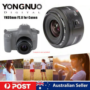 YONGNUO Wide-angle Fixed Auto Focus lens YN 35MM F2 For Canon EF EOS DSLR Camera