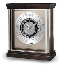 BULOVA wyndmere quartz bois étui heure monde Horloge de bureau b2258