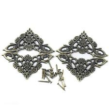 4PCS Vintage Metal Decorative Corner Bracket for Chest Jewelry Gift Case box