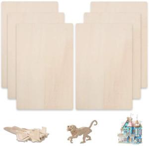 "FOGAWA Balsa Wood Sheets 12 x 8""Unfinished Unpainted Basswood MDF Thin Hobby DIY"
