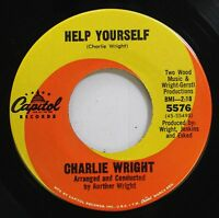 Hear! Northern Soul Funk 45 Charlie Wright - Help Yourself / Number One On Capit