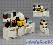LEGO - Kitchen Cupboard w/ Sink Dishwasher Coffee Maker Cabinet Minifigure Food