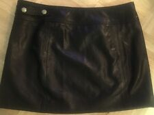 Gianni Versace Women's Black Leather Mini Skirt 40 Vintage Rare Ruffo