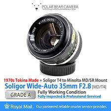 ⭐SERVICED⭐ Soligor TOKINA 35mm F2.8 *8 BLADES* T4 / Minolta SR/MD Fit [GRADE A]