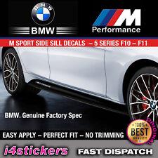 BMW M PERFORMANCE M SPORT SIDE SILL DECALS 5 SERIES F10 F11 SPORTS MODEL