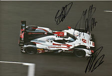 Lotterer, Treluyer, Fässler Audi Joest Hand Signed Photo 12x8 Le Mans 9.