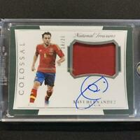 Xavi Hernandez Autograph Panini Soccer 2018 Spain NM-EX National Treasures