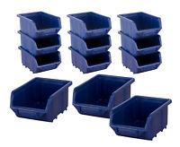 Regal Stapelboxen Plastikbox Kisten Stabelkisten Wandregal  Schraubenbox Set 6