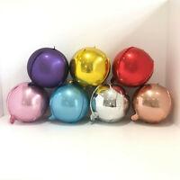 "Coloured Orb Balloons 10"" Balloon Rose Gold, Silver etc Round Balloons"