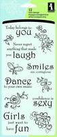 Thoughts for the Day Sentiments Clear Acrylic Stamp Set Inkadinkado 60-30062 NEW