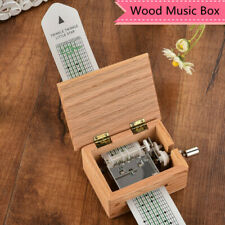 More details for 15 tone hand crank music box diy wooden musical box with hole puncher paper tape