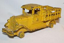 1930's AC Williams Large Size Stake Truck, Yellow, Nice Original,