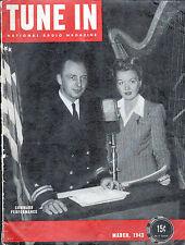 """TUNE IN Magazine """"Command Performance"""" Mar 1943 SUPERMAN In RADIO ARTICLE Rare"""