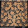 Embroidered Cutwork Leaf Leaves Brown Gold Placemat Table Runner Tablecloth 4572