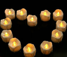 Flickering dipped Wax Battery Operate Led tea Candle Wedding Xmas Decor w/Timer
