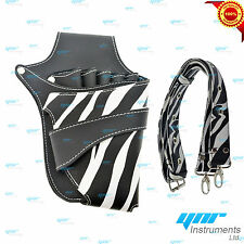 YNR Zebra Hairdressing Pouch Hairdresser Scissors Pouch Holster Case Wallet