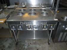 Six 6 Well Bain Marie Warming Table W/ Under Shelf Phase 1 Includes Casters