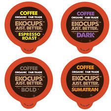 Ekocups Dark, Bold, & Espresso Organic Coffee Sampler, 80 Count