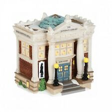 Department 56 New England Village THE JEFFERSON LIBRARY 4036529 BNIB Retired D56