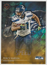 PERCY HARVIN 2014 Topps Valor Football Speed Parallel Card #15 Seahawks