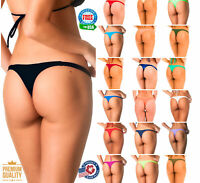 Coqueta TEENY Thong Swimsuit Bottom Women's Sexy Bikini Swimwear SOLID New Color