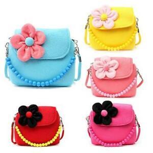 Children  Kid Girls  Princess  Messenger  Shoulder Bag  Flower Beads  Chain