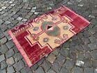 Turkish vintage rug, Carpet, Bohemian rug, Handmade wool rug | 2,3 x 4,1 ft