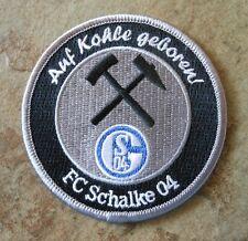 Aufnäher + Aufbügler + Schalke 04 + Auf Kohle geboren + NEU 2016/2017 + Lizenz