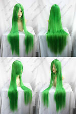 COS WIGS Long Cosplay Grass Green Straight Wig 100CM