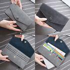 Mode Femme Pochette Long Porte-monnaie Portefeuille Cuir Porte-cartes Sac À Main