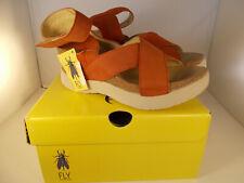 FLY London Weel Open Toe Casual Platform Sandals Scarlet Women Sz 10-10.5 US NIB